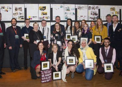 Winners and shortlisted Designers of Tomorrow with staff from West College Scotland